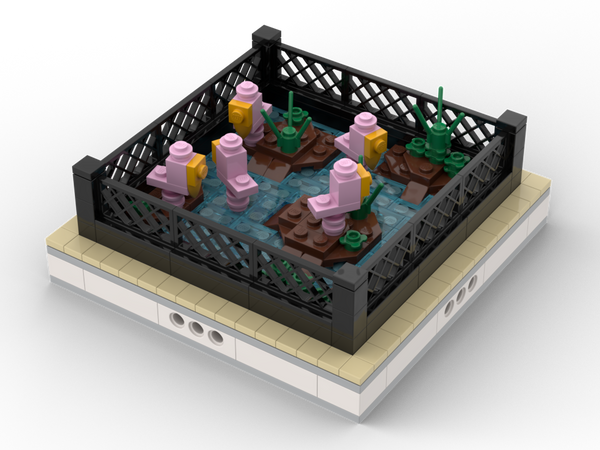 MOC - Flamingo | mini modular ZOO - How to build it