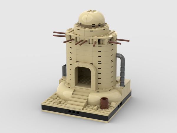 MOC - Desert House #14 for a Modular Desert space village - How to build it