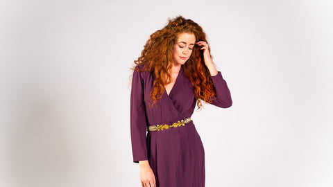 Plum Wrap Dress