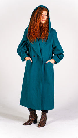 Emerald Wool Coat