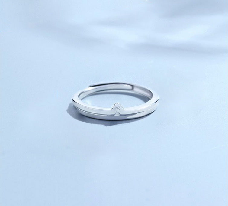 S952 Silver The Perfect Match Couple Rings