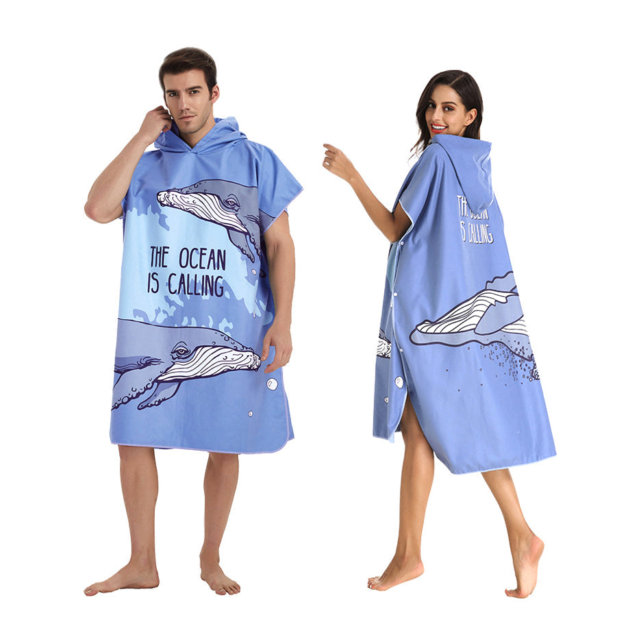 The Ocean is Calling Microfiber Hooded Changing Towel