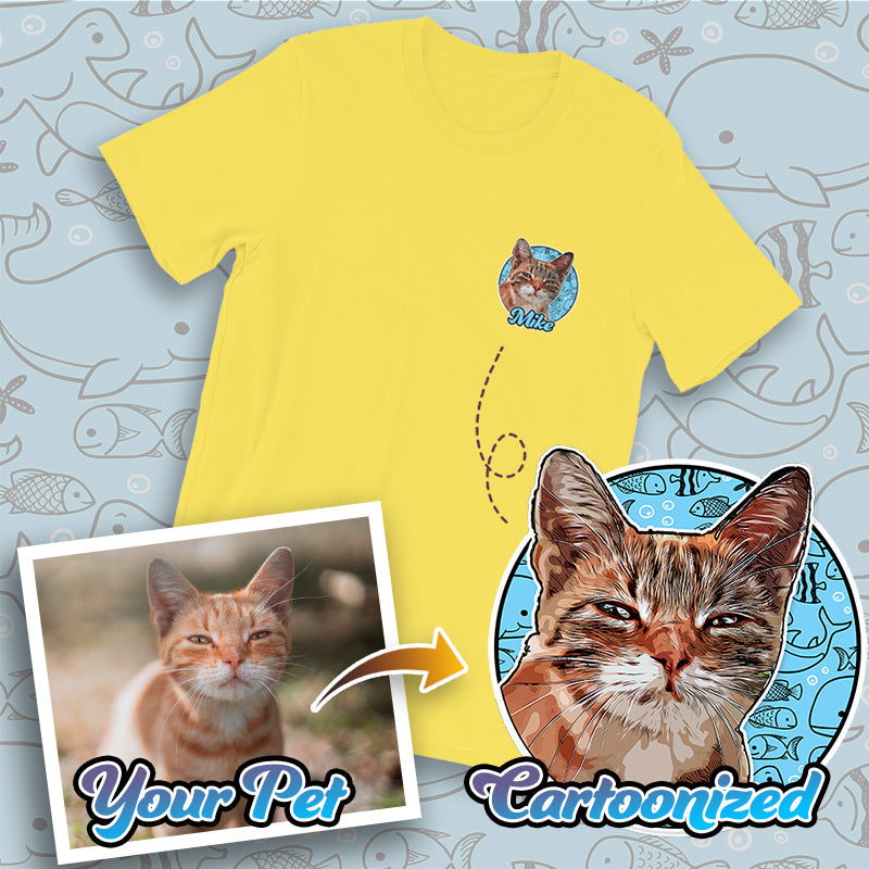 Personalised Pet Print Short-Sleeve Unisex T-Shirt