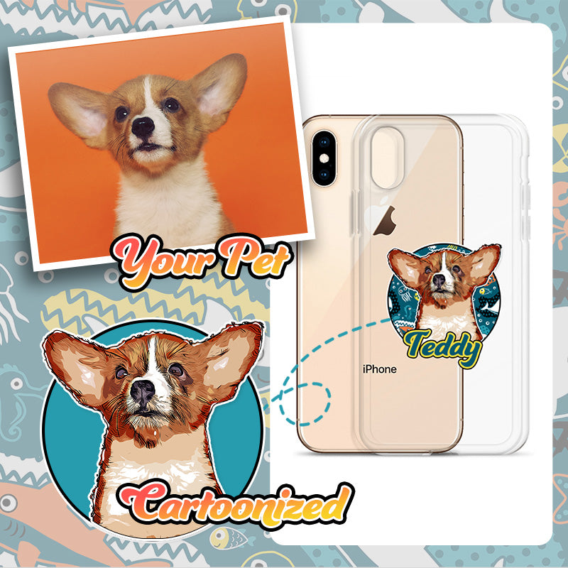 Personalised Pet Print Clear Phone Case - Samsung/iPhone