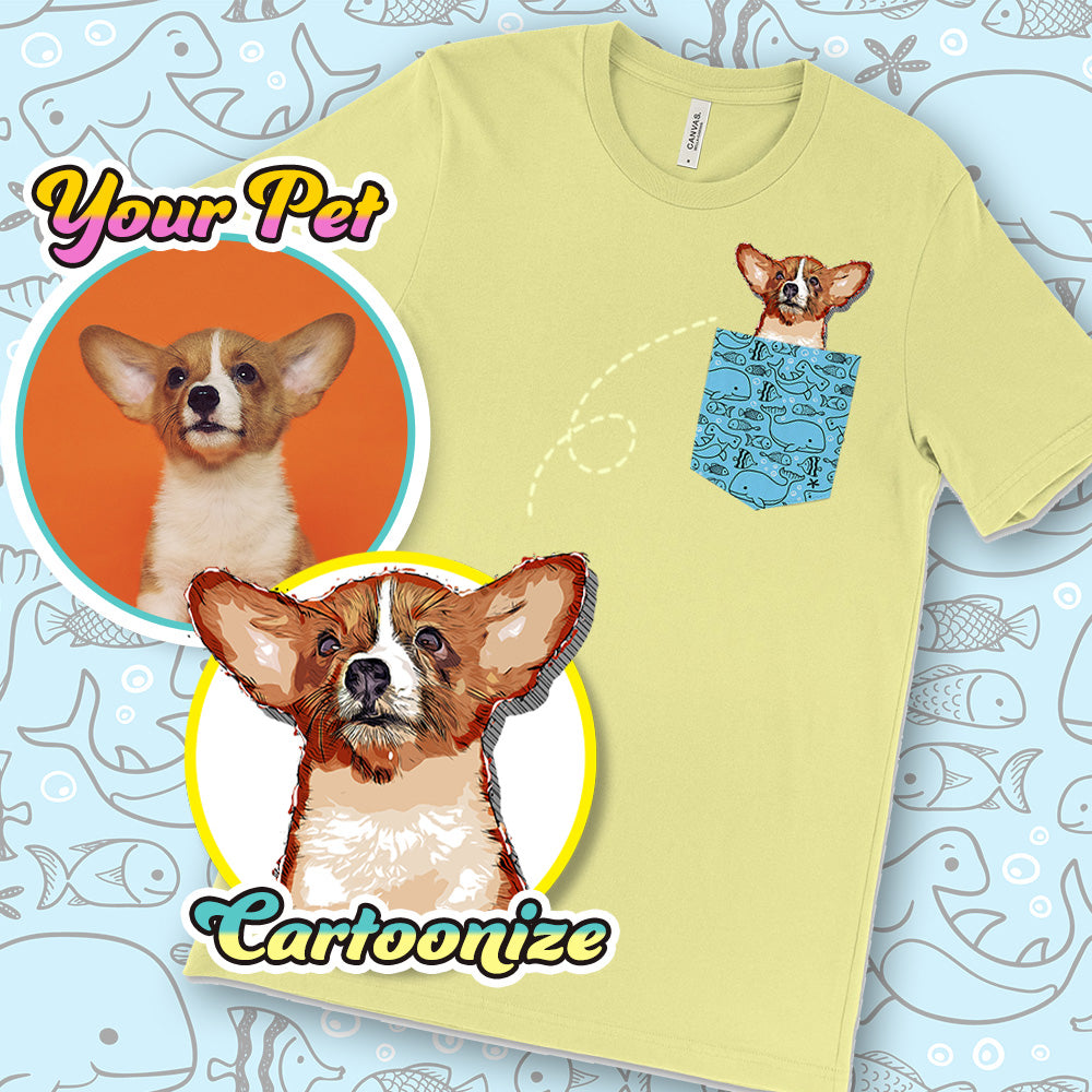 Personalized Pocket Pet Print Unisex T-shirt