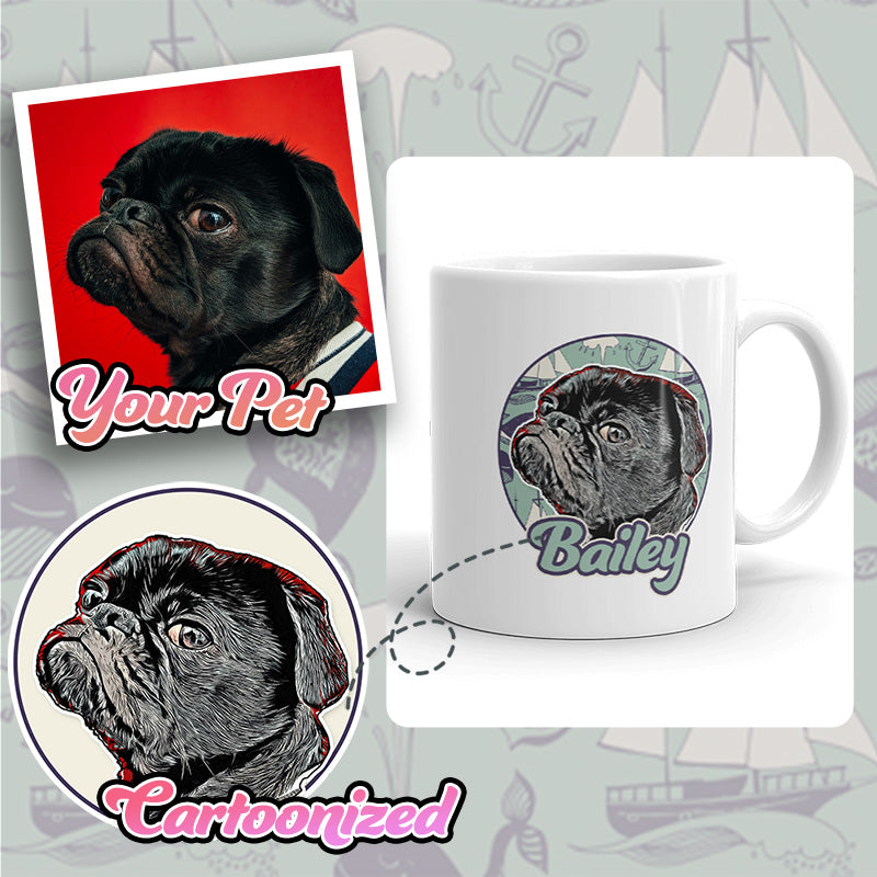 Personalized Pet Print Coffee Mug