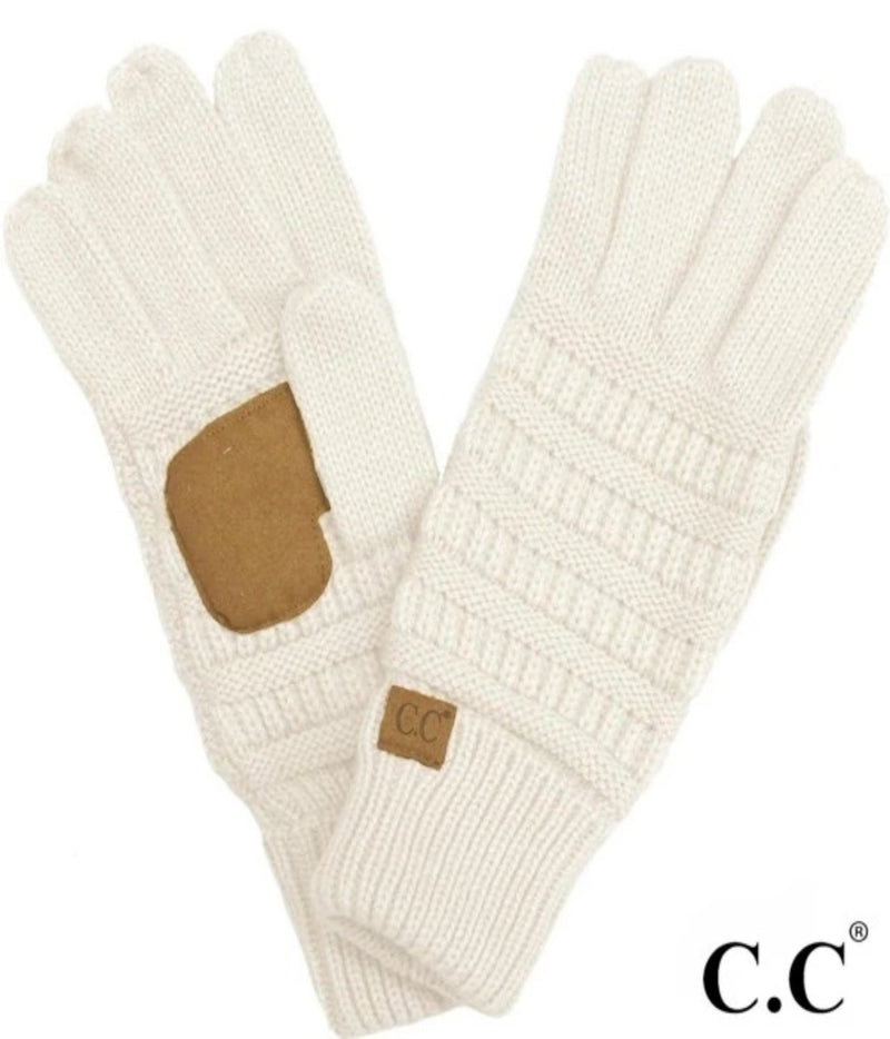 Solid Ribbed Gloves
