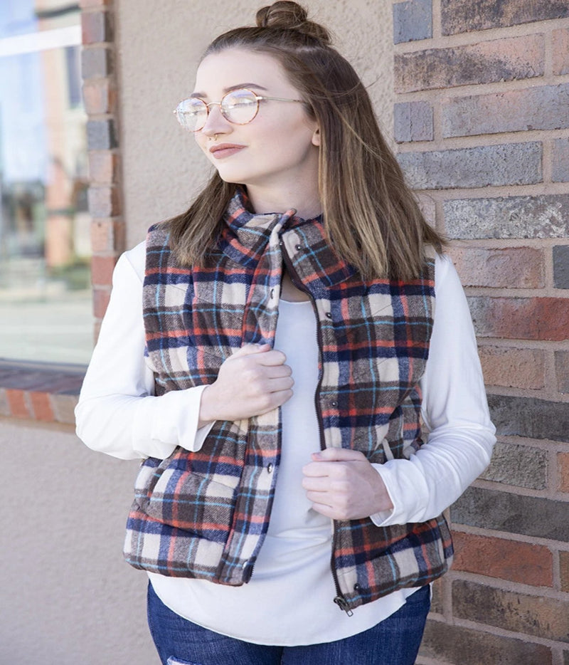 Plaid Printed Vest