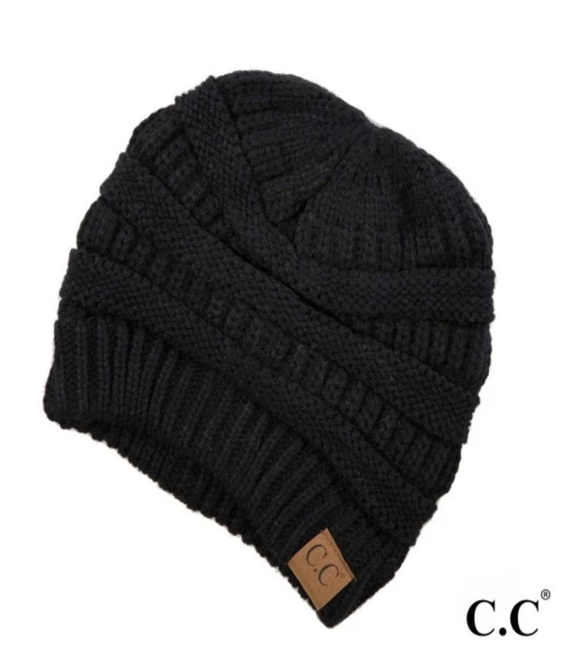 Solid Cable Knit Beanies