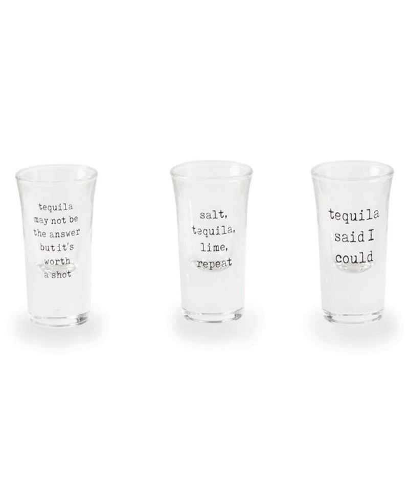 Mud Pie STL Repeat shot glass