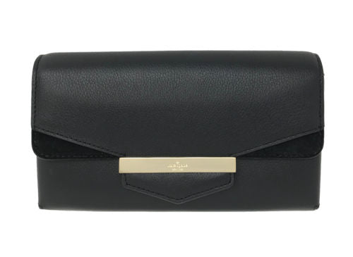 Kate Spade Carmel Court Jaimie Black Leather Wallet WLRU3202 $199