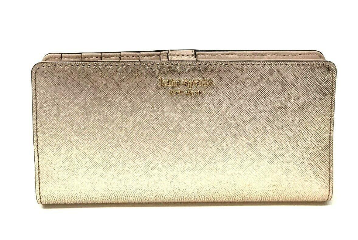 Kate Spade Cameron Large Slim Bifold Leather Wallet Credit Card $119