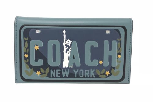 Coach F26088 Universal Phone Case Slate New York License Plate $150