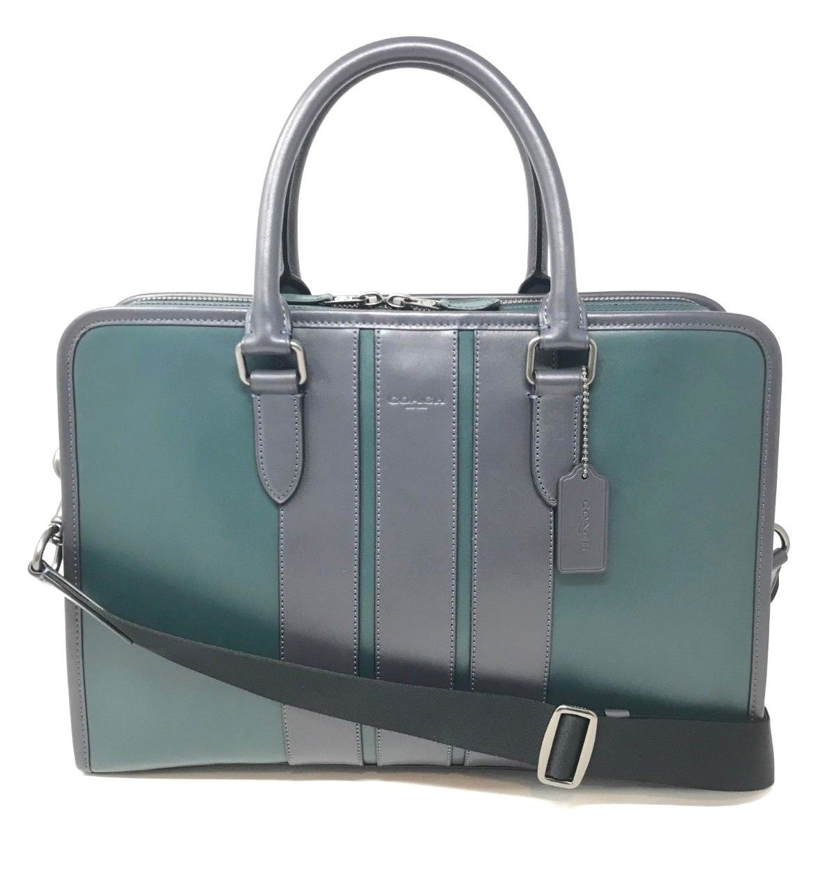 Coach Men's Bond Briefcase Bag In Forest Green Smooth Leather F35430 $595