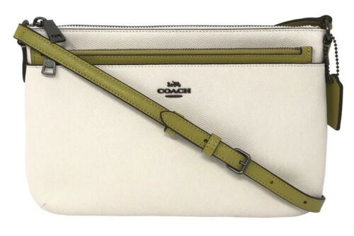 Coach East West Crossbody With Pop Up Pouch Color Chalk Chartreuse F28382 $225