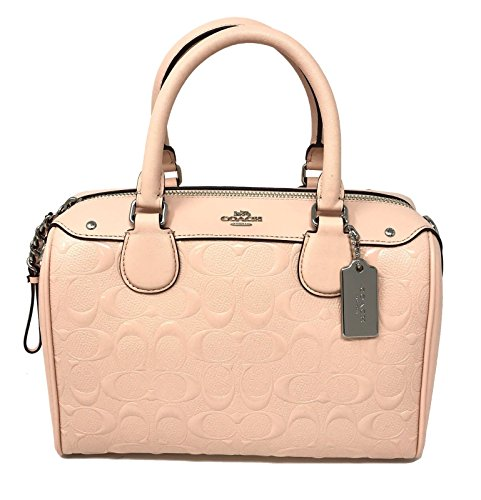 COACH F11920 MINI BENNETT SATCHEL IN SIGNATURE DEBOSSED PATENT LEATHER LIGHT PINK