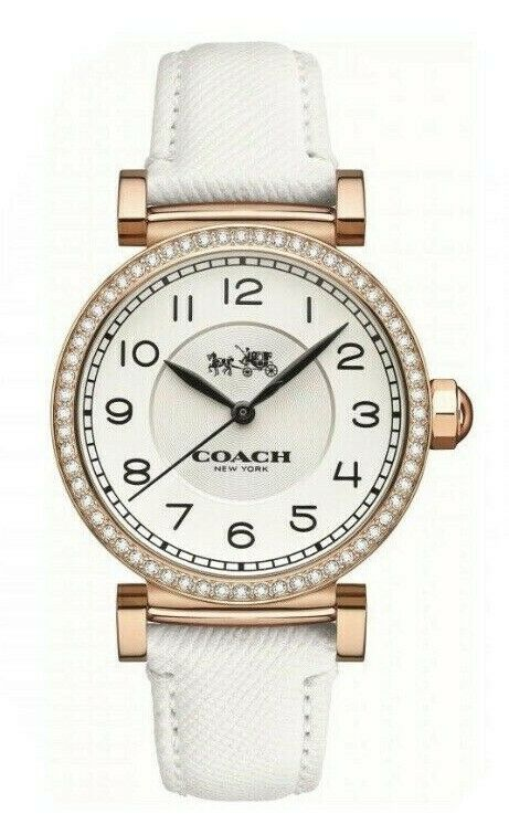 Coach Madison White Dial Leather Strap Women's Watch 14502401