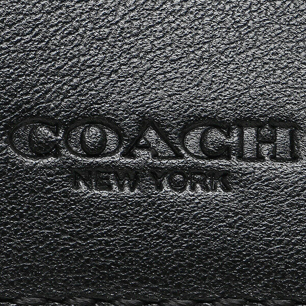 Coach Men's F75363 Bifold Coin Wallet Black Signature Logo Crossgrain $175
