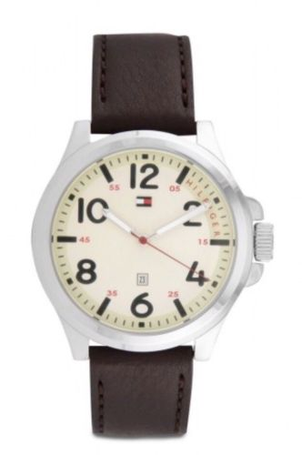 NWT Tommy Hilfiger Men's Essentials Brown Leather Strap 1790990 $100