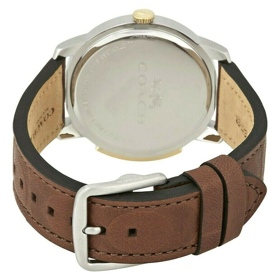 Coach Men's Bleecker Brown Signature Leather Strap Watch 42mm 14602114 $250