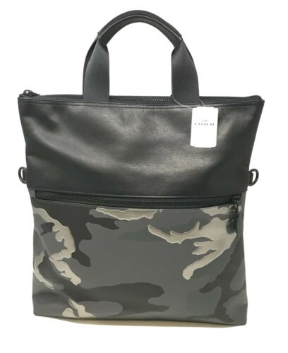 Coach Men's Charles Foldover Tote With Metallic Camo Print Bag F32303 $575