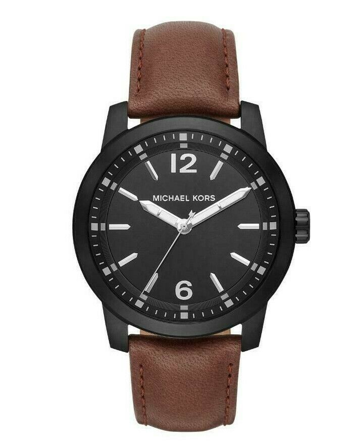 Michael Kors Men's Watch Dark Brown Leather Vonn Three Hand MK8651 $195