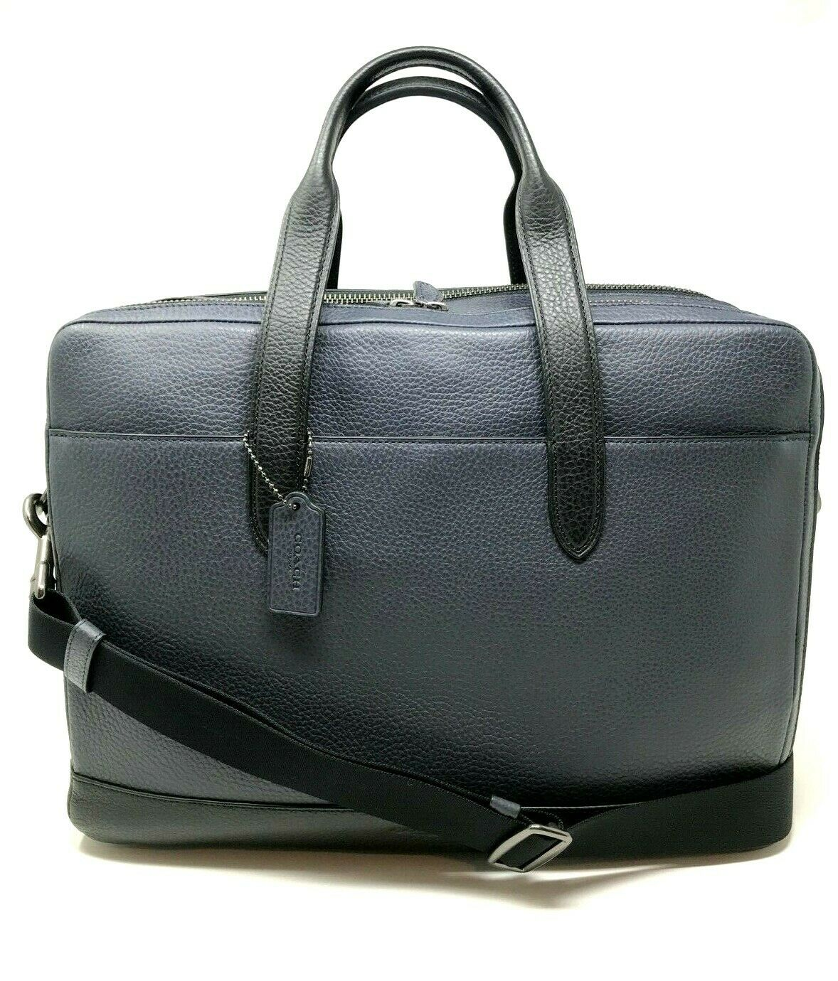 Coach Men's Leather Hamilton Briefcase Crossbody Laptop Bag Navy F27617 $650