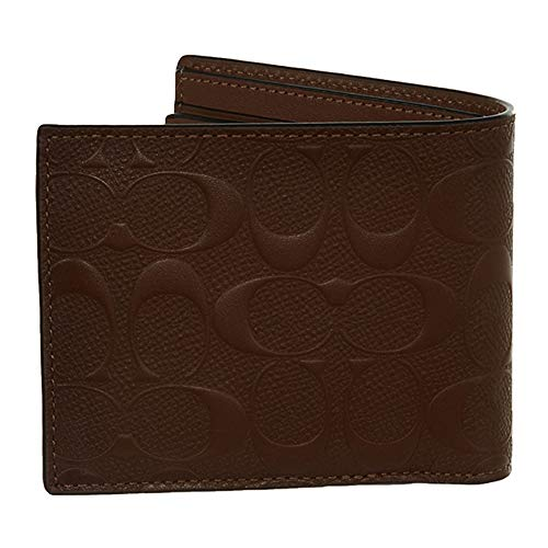 COACH F25753 COMPACT ID WALLET IN SIGNATURE LEATHER