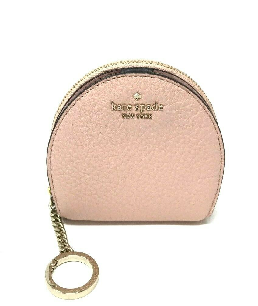 Kate Spade Jackson Half Moo Warm Vellum Wallet Coin Key Chain WLRU5465 $99