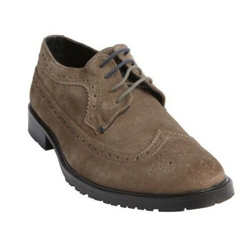 Ben Sherman Men's Gray Suede Wingtip Tooled Max Oxfords Size US 8.5 EU 41.5