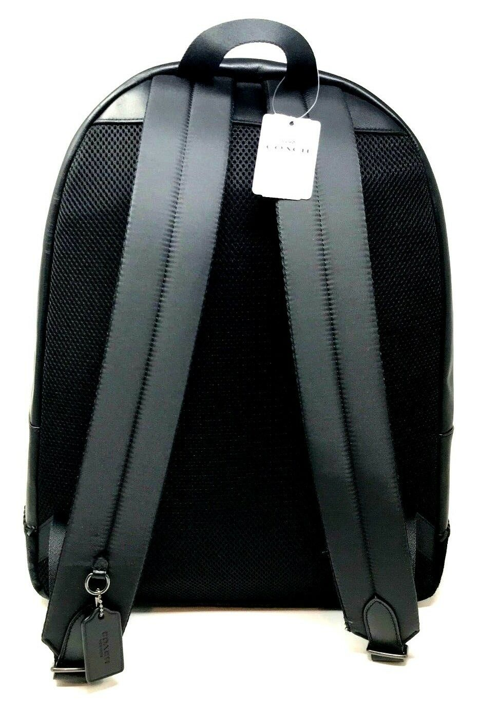 Coach Men's Charles Backpack With Baseball Stitch Leather Black F11250 $595