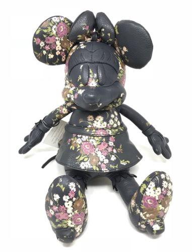 Coach Disney Minnie Mouse Medium Doll Midnight Flowers Limited Edition F30856
