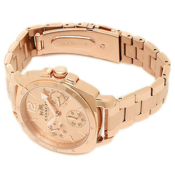 Coach Ladies Watch Boyfriend Analog Rose Gold Stainless Steel 14502139 $275