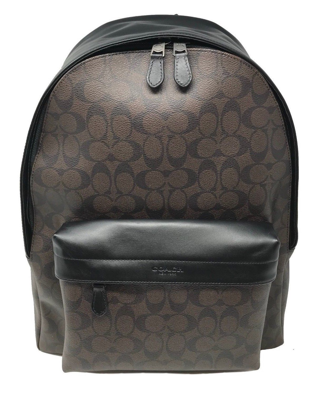 Coach Men's Charles Backpack In Signature Mahogany Black F39647 $495