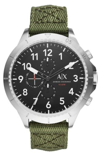 Armani Exchange AX1759 Aeroracer Green Nylon Chronograph Men's Watch $190
