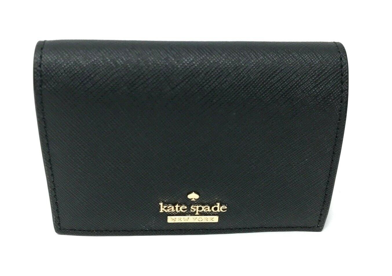 Kate Spade Cameron Street Annabella Black Leather Card Holder Wallet PWRU6516 $88