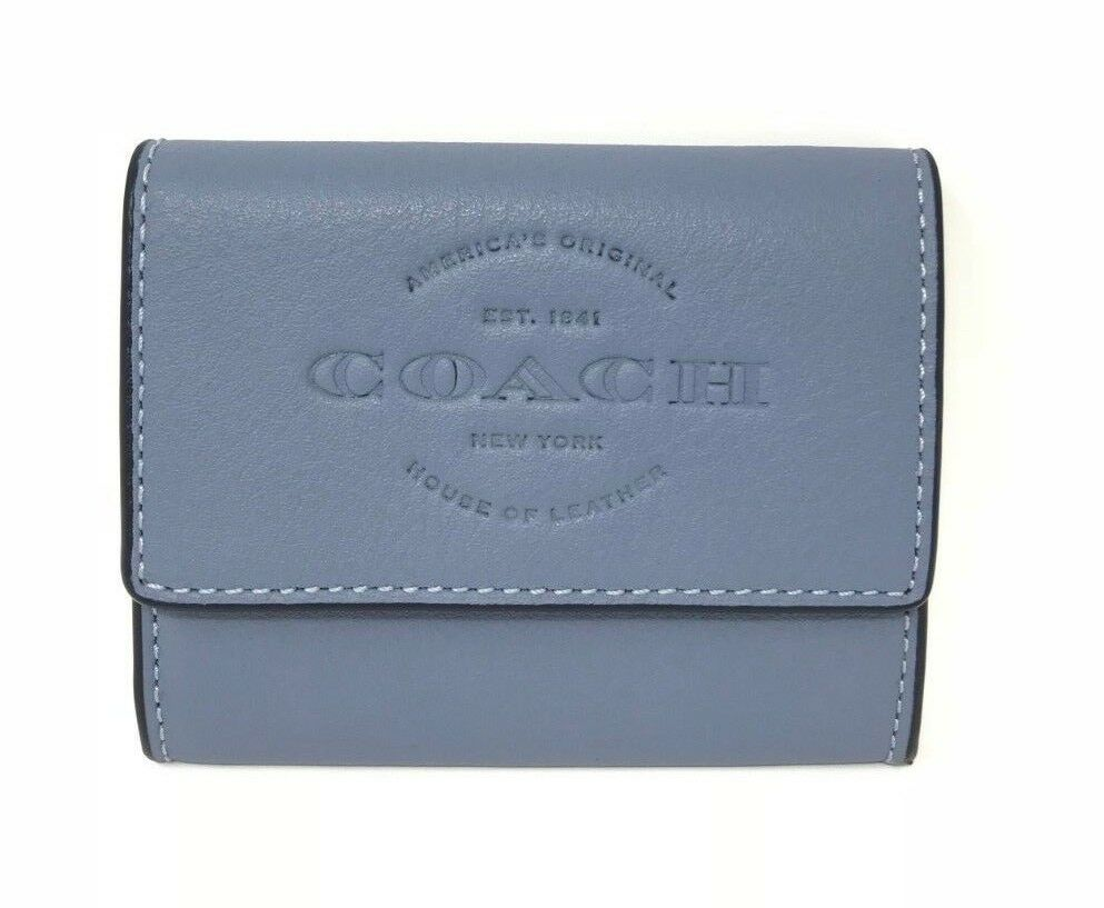 Coach F24652 Coin Case Dusk Natural Leather Men's Wallet $95