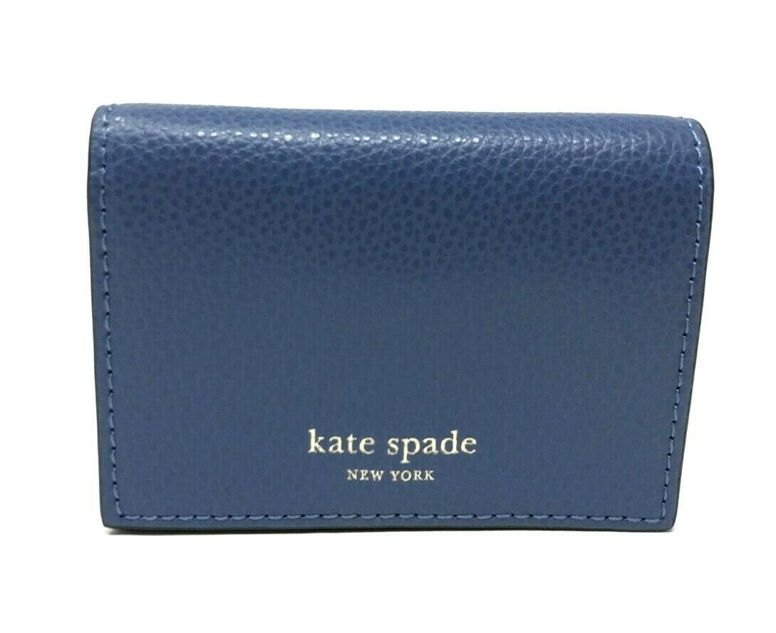 Kate Spade Eva Accordion Blue Dawn Card Case Small Wallet WLRU5235 $89