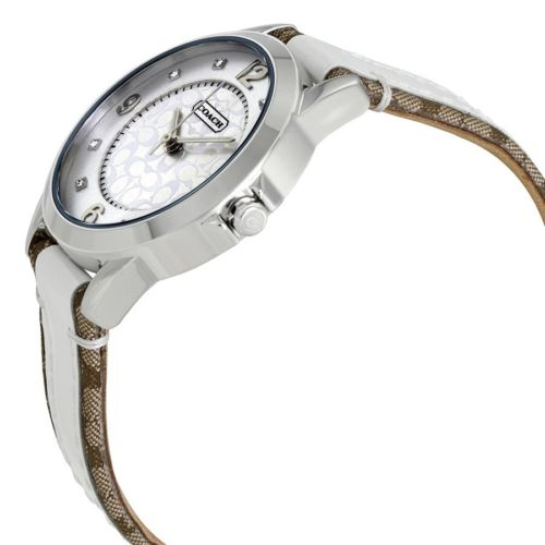 Coach Classic Silver Dial Ladies Two Tone Leather Watch 14501619 $195