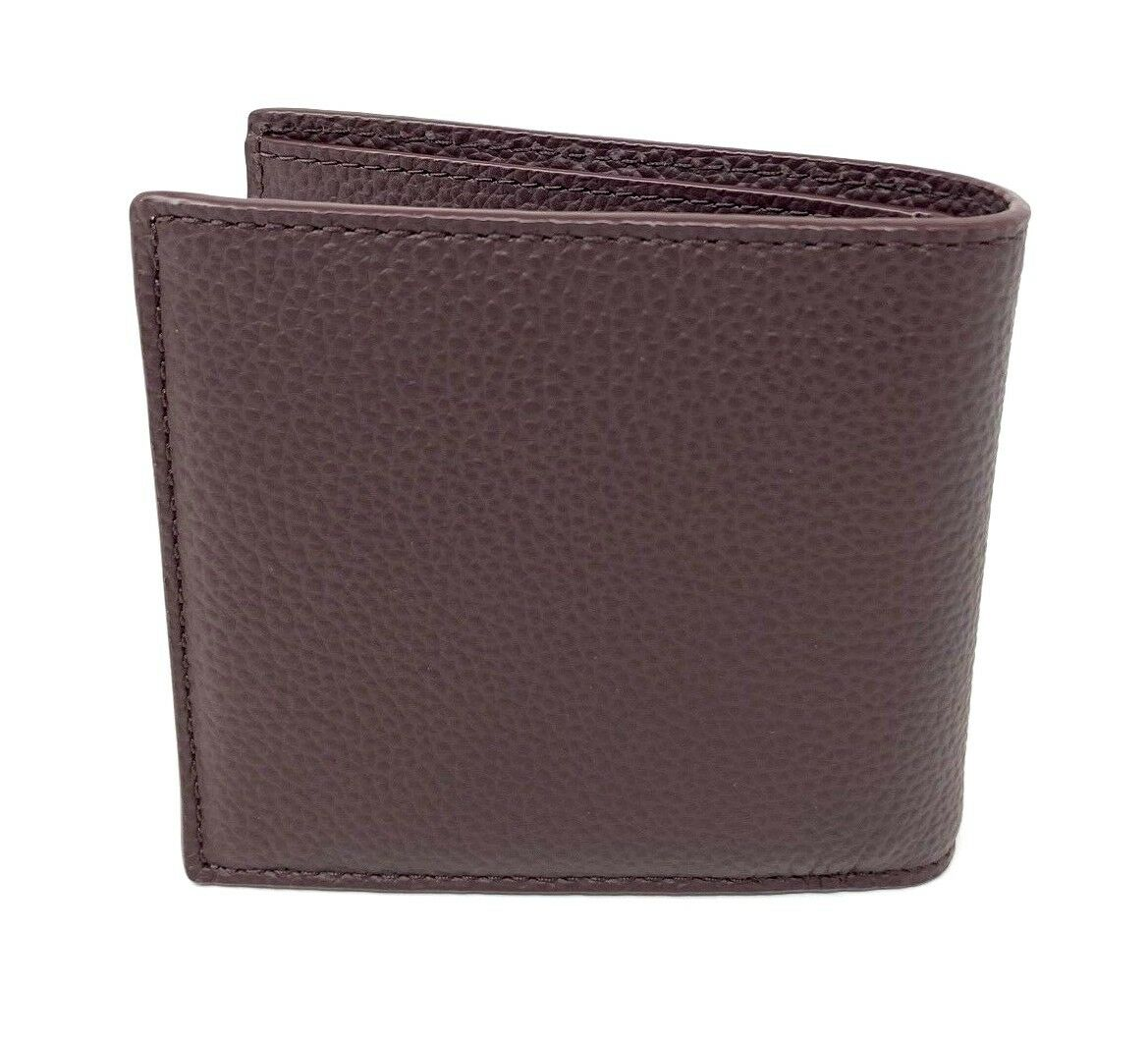 Coach Double Billfold 1941 NY House of Leather Oxblood Men's Wallet F24647 $175