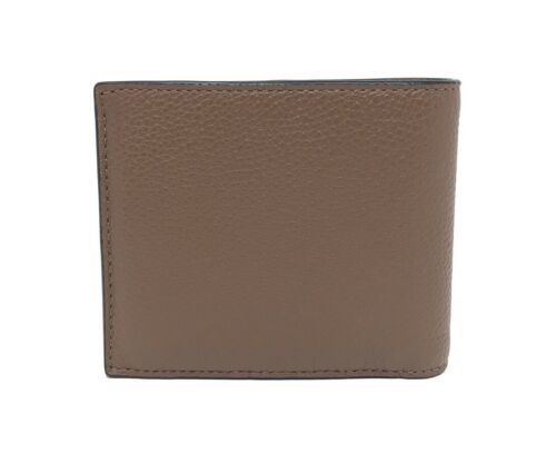 Coach F26085 3 IN 1 Pepsi-Cola Saddle Pebble Leather Men's Wallet $195