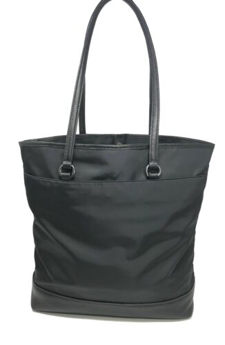 Coach F22895 Black Bear Nylon Leather Tote Bag Shoulder Bag Limited Edition $350