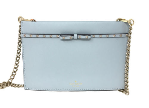 Kate Spade Elliott Street Mini Sima Blue Shimmer Crossbody Bag PWRU5960 $168