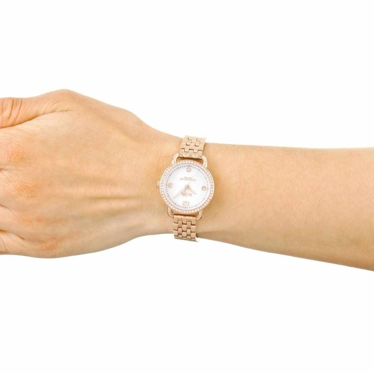 Coach Delancey Mother of Pearl Dial Rose Gold-Tone Women's Watch 14502479 $295