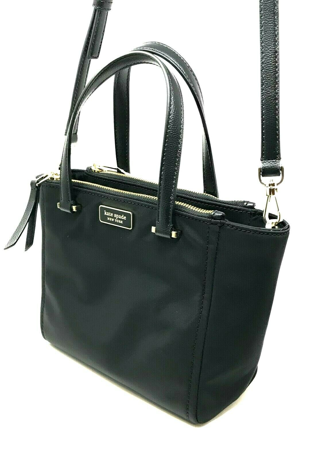 Kate Spade Dawn Small Satchel Nylon Crossbody Bag Black WKRU5917 $199