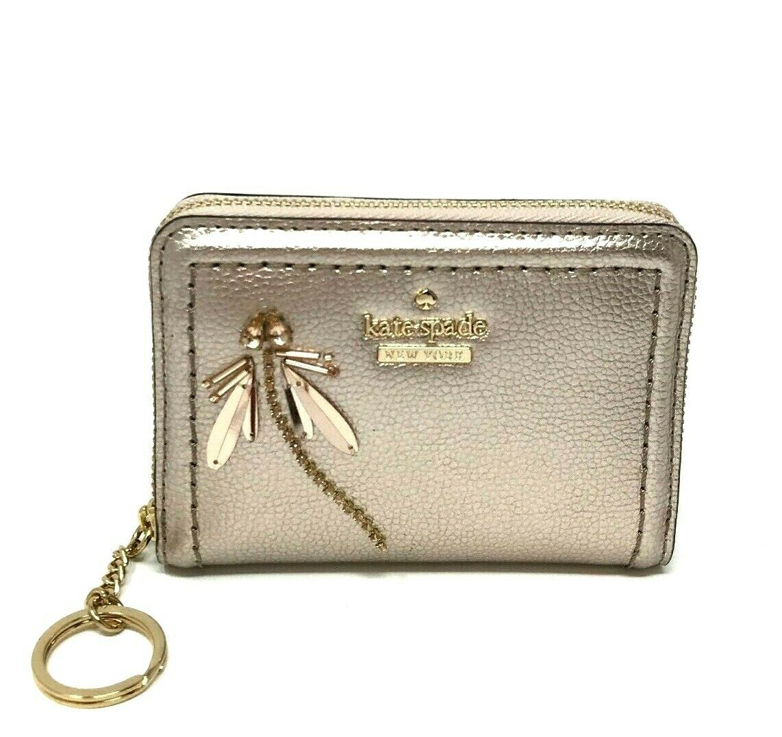 Kate Spade Dani Patterson Drive Dragonfly Metallic Blush Wallet WLRU5238 $129
