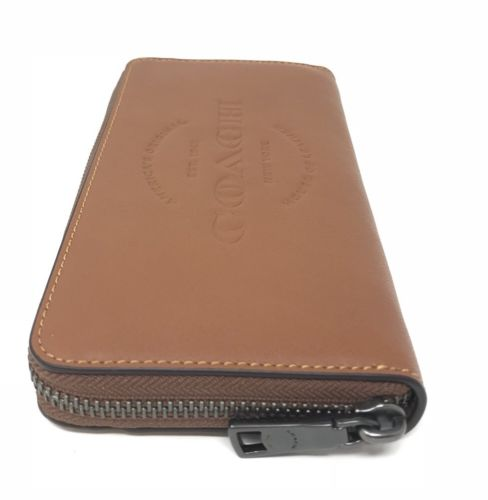Coach F24648 Men's Accordion Natural Leather Saddle Wallet $275