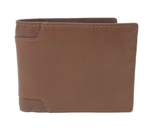 Fossil Men's Garrett RFID Flip ID Bifold Leather Wallet ML4007200 $50