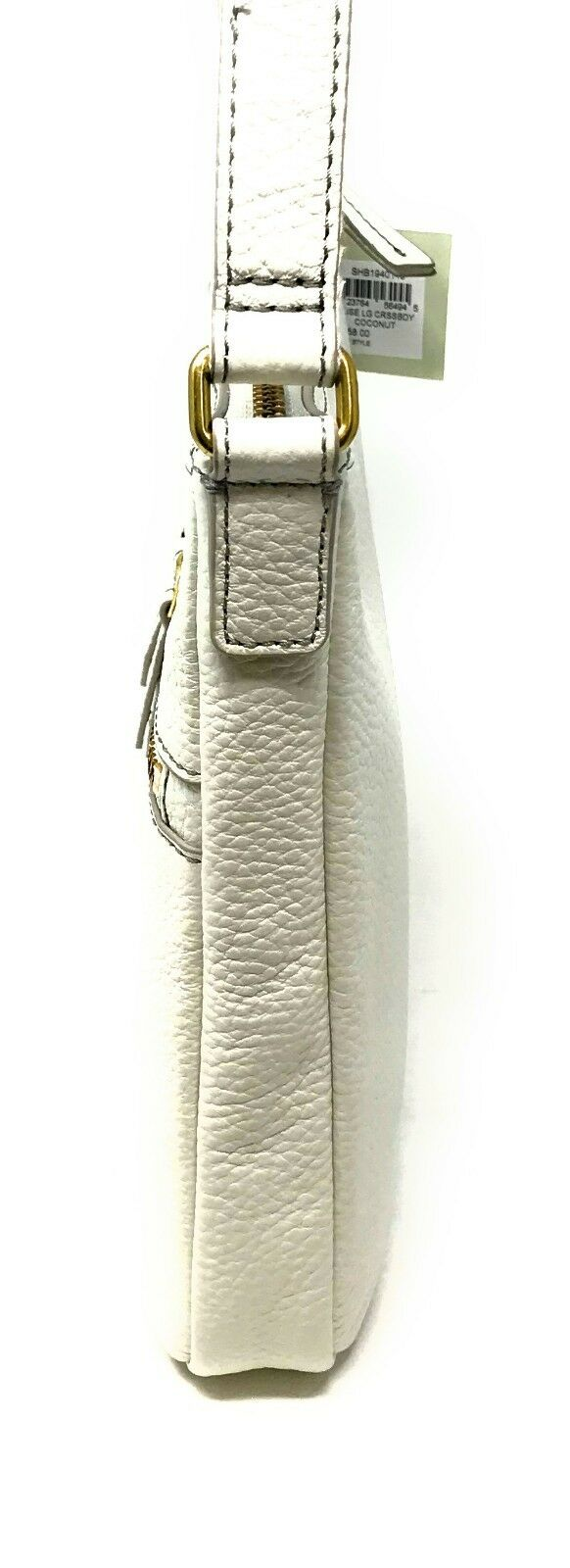 Fossil Elise Genuine Leather Crossbody Shoulder Bag Coconut SHB1940146 $158