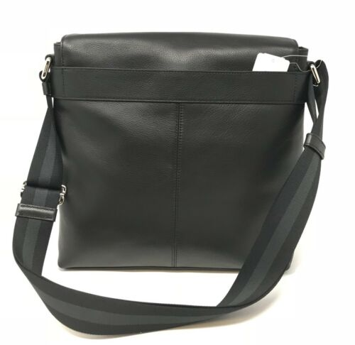 Coach F28576 Men's Charles Messenger Black Calf Leather Crossbody Bag $375